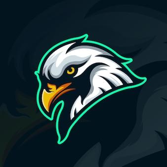 Esports eagle mascot team logo