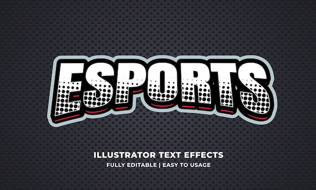 Esports 편집 가능한 텍스트 효과