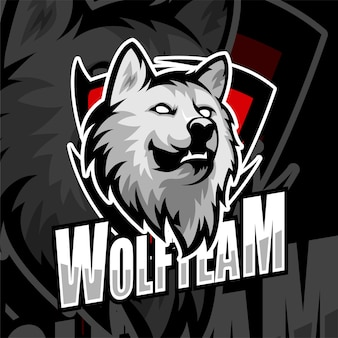 Esports gaming logo badge wolf team