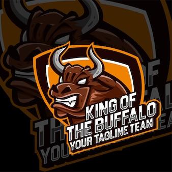 Esports gaming logo buffalo animals