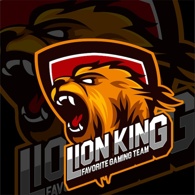 Esports gaming logolion king animals