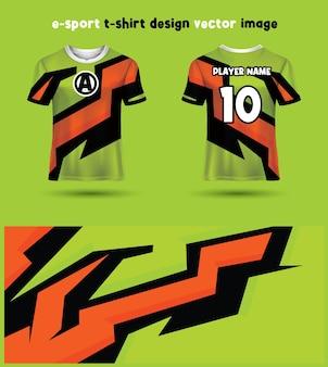 Esports gaming t shirt jersey template