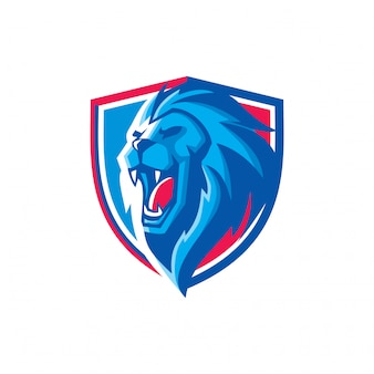 Esports lion head mascot logo