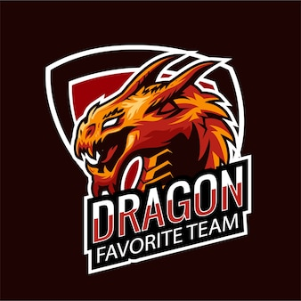 Esports logo gaming dragon