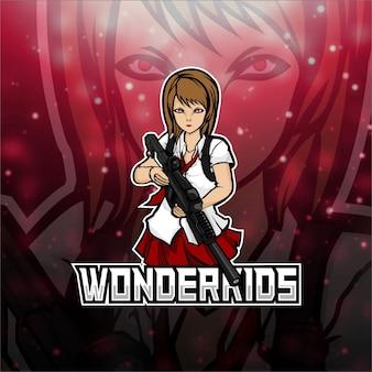 Esports logo wonderkidsチーム