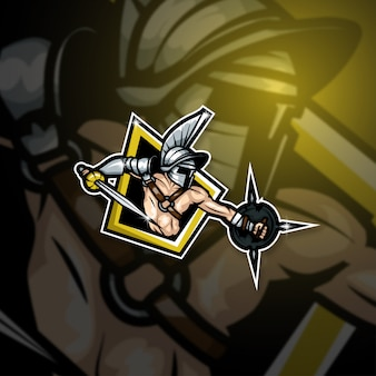 Киберспорт талисман логотип team gladiator squad