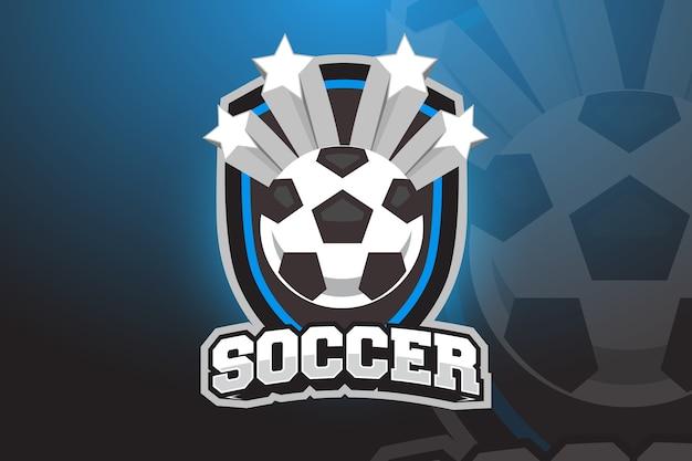 Футбольный мяч логотип дизайн для esports, sport team