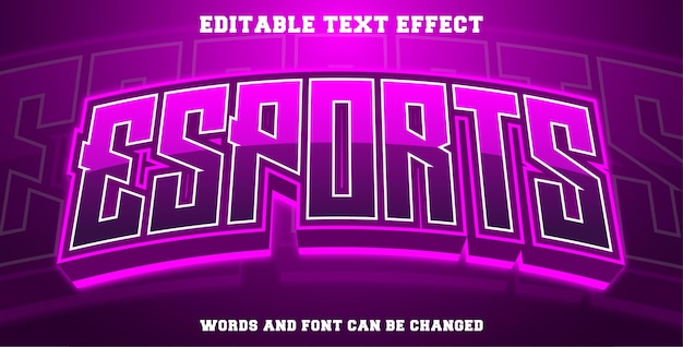Esports text effect purple color