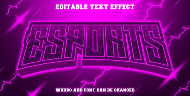 Esports text effect purple color