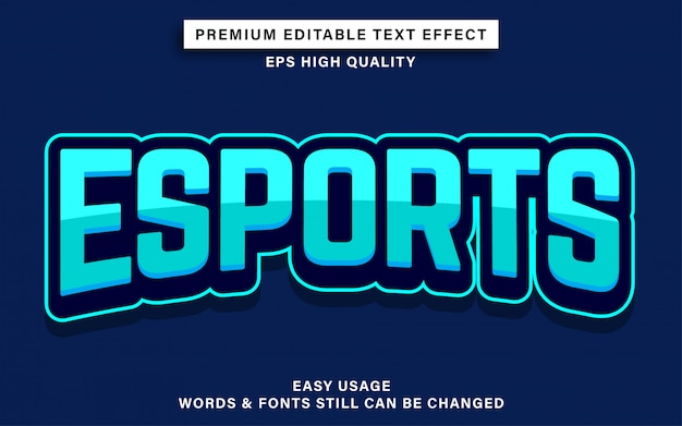 Esports текстовый эффект