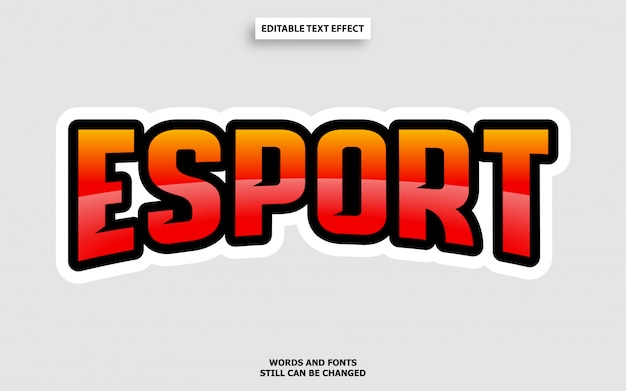Esports стиль текста редактируемый эффект шрифта