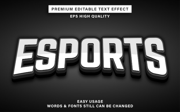 Esports text style effect