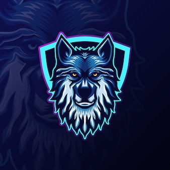 Esports wolf mascot team logo