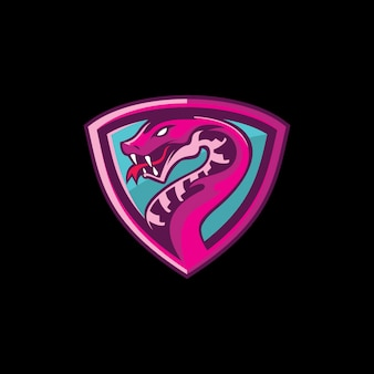 Esports змея талисман логотип