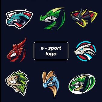Esports логотип набор