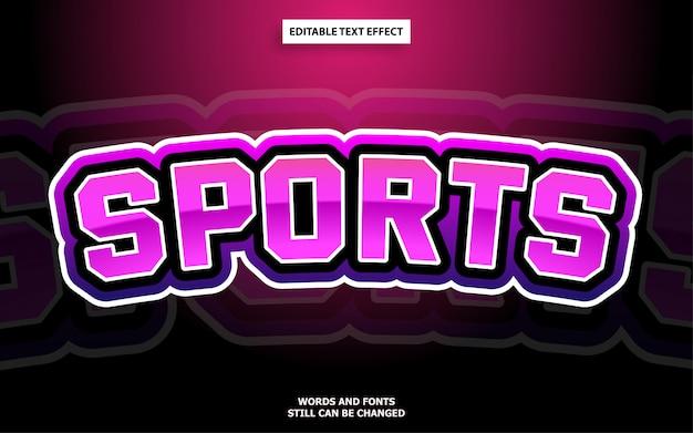Esports стиль редактируемый текстовый эффект