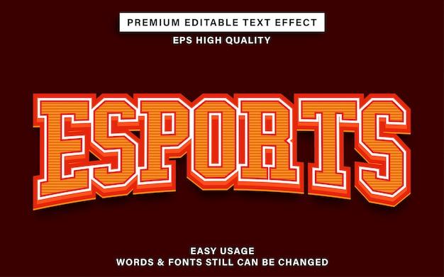 Esports стиль текстового эффекта