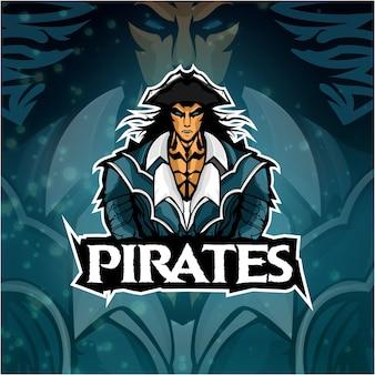 Логотип esports команда пиратов