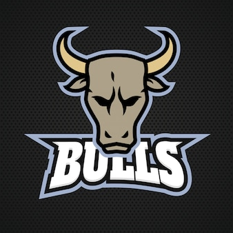 Esportsチームのための現代のプロのブルのロゴ
