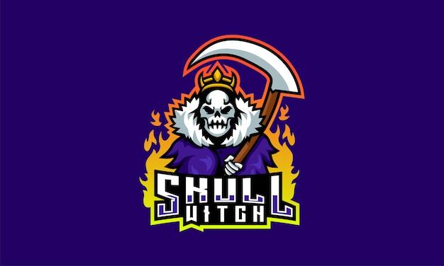 Логотип череп ведьмы esports