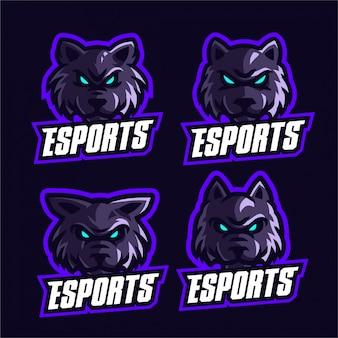 オオカミesportsロゴのテンプレートを設定します。