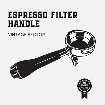 Espresso filter handle