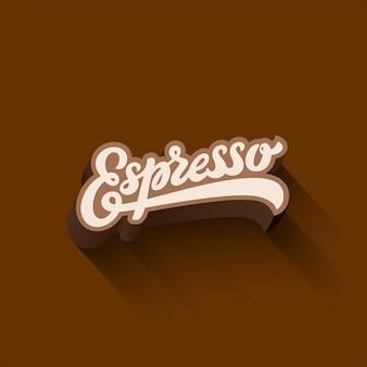 Espresso lettering calligraphic design vintage composizione