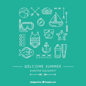 Essential equipment for summer
