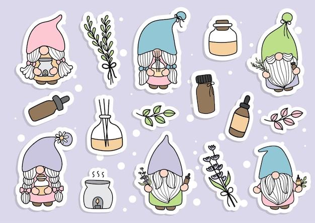 Essential oil gnome sticker planner and scrapbook