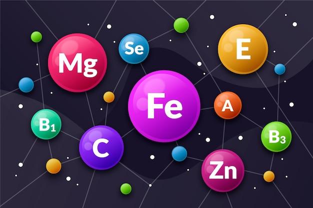 Основные витаминно-минеральные комплексные обои