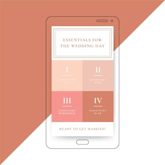 Essentials for your wedding day template