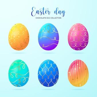 青で分離されたエステルの日卵コレクション