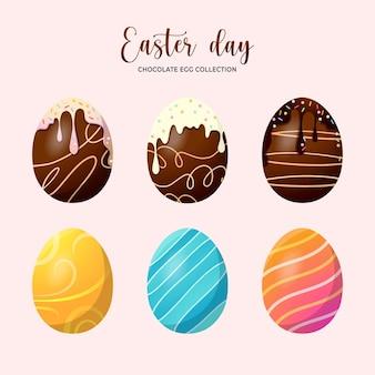 ピンクで分離されたエステルの日卵コレクション