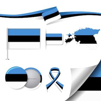 Collezione di elementi rappresentativi in estonia