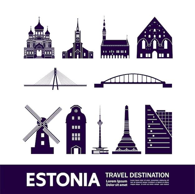 エストニアの旅行先。