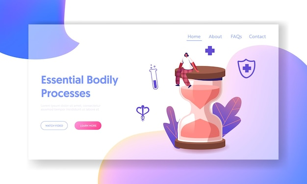 Estrogen and estradiol hormonal medical therapy landing page template.