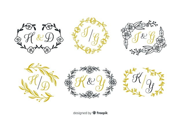 Etching wedding collection template