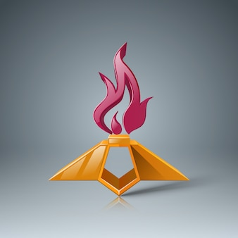 Eternal flame icon. may 9 - victory day