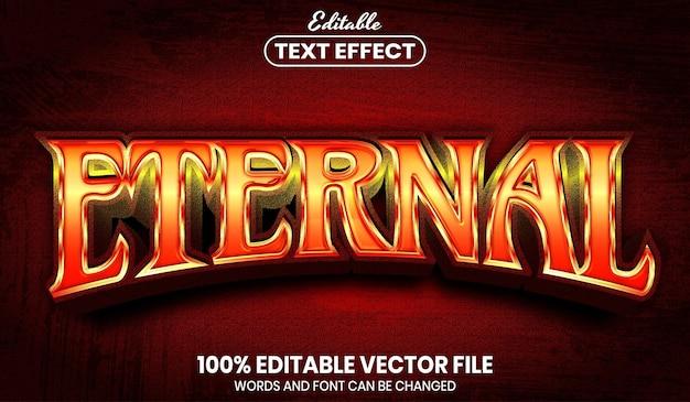 永遠のテキスト、フォントスタイルの編集可能なテキスト効果