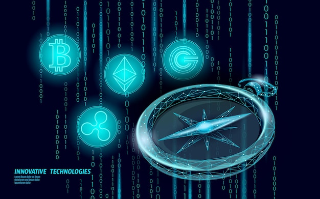 イーサリアムビットコインリップルコインデジタル暗号通貨コンパスオンライン支払い。
