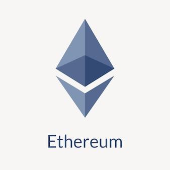 Concetto di finanza open source di vettore del logo di criptovaluta blockchain di ethereum
