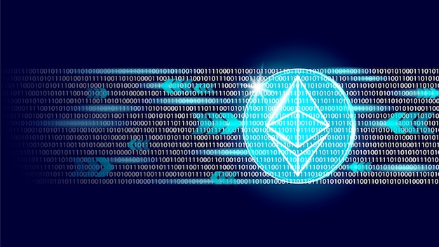 Ethereum digital cryptocurrency sign binary code number. big data