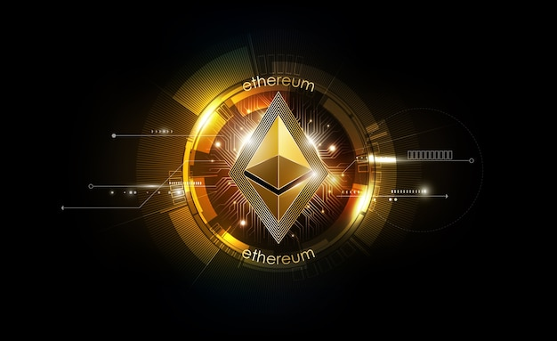 Ethereum digital currency money background