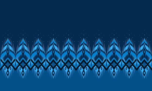 Ethnic abstract ikat art. seamless pattern in tribal.