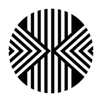 民族アフリカ部族ラウンドスタイル線形アートベクトル背景またはサークルストライプテクスチャ