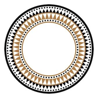 民族アフリカの部族のラウンドスタイルのベクトルフレームまたは円の境界線