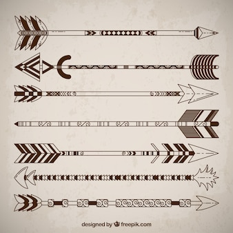 Ethnic arrows collection