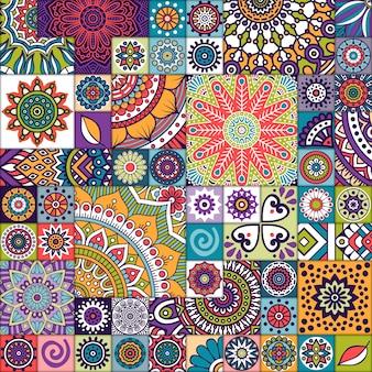 Ethnic background tile texture
