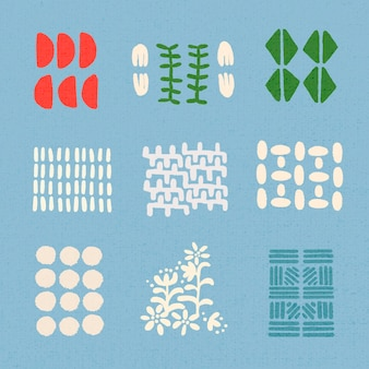 민족 블록 인쇄 요소 그래픽 벡터