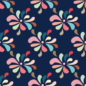 装飾的なドロップと民族の自由奔放に生きるパターン。印刷。布のデザイン、壁紙。ベクター